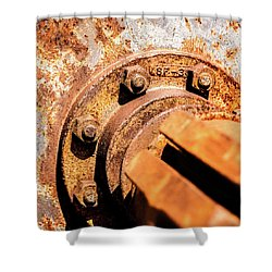 Rust Shower Curtain by Onyonet  Photo Studios