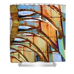 Rust Pavilion World's Fair 1964 Ny Shower Curtain