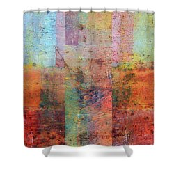 Shower Curtain featuring the painting Rust Study 1.0 by Michelle Calkins
