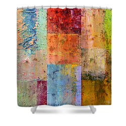 Shower Curtain featuring the painting Rust Study 2.0 by Michelle Calkins