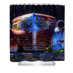 Rusted Out Old Cars Shower Curtain by Garry Gay