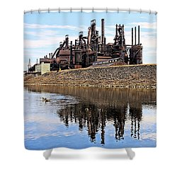 Rusted Relection Shower Curtain