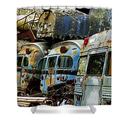 Rusted Series Shower Curtain by Laura Atkinson