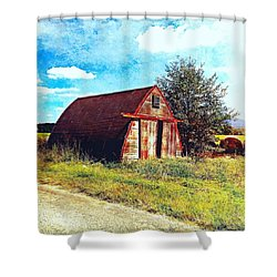 Rusted Shed, Lazy Afternoon Shower Curtain by Steven Gordon