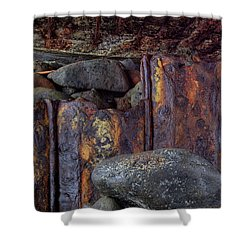 Rusted Stones 3 Shower Curtain