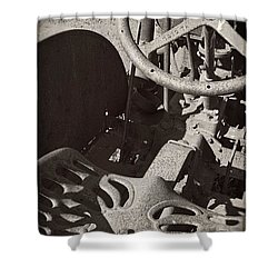 Shower Curtain featuring the photograph Rusted Tractor by Michelle Calkins