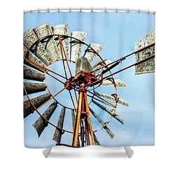S And L Windmill Shower Curtain
