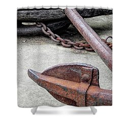 Rustic Anchor Shower Curtain