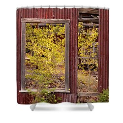 Shower Curtain featuring the photograph Rustic Autumn by Leland D Howard