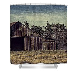 Rustic Barn Shower Curtain