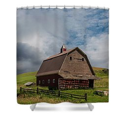 Rustic Barn Palouse Washington Shower Curtain