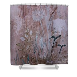 Shower Curtain featuring the painting Rustic Breeze by Robin Maria Pedrero