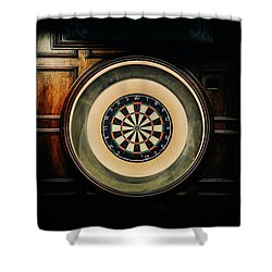 Rustic British Dartboard Shower Curtain
