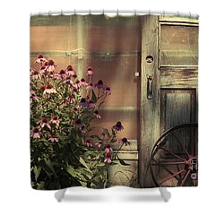 Rustic Corner Shower Curtain by Aimelle