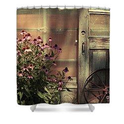 Rustic Corner Shower Curtain