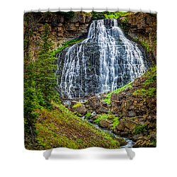 Shower Curtain featuring the photograph Rustic Falls  by Rikk Flohr