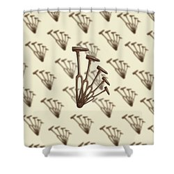Rustic Hammer Pattern Shower Curtain by YoPedro