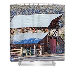 Rustic Hay Barn Cedaredge Colorado Shower Curtain
