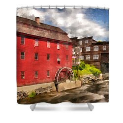 Rustic Historic Grist Mill Littleton, Nh Shower Curtain by Betty Denise