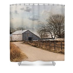 Shower Curtain featuring the photograph Rustic Lane by Robin-Lee Vieira