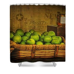 Rustic Limes Shower Curtain by Wallaroo Images