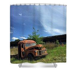 Rustic Memories 1950s Shower Curtain