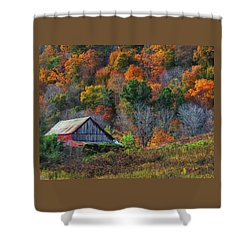 Rustic Out Building In Southern Ohio  Shower Curtain
