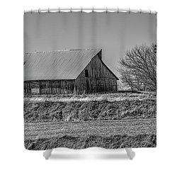 Rustic Rural Iowa Shower Curtain