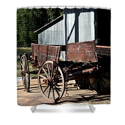 Rustic Wagon Shower Curtain