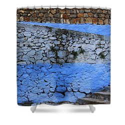 Shower Curtain featuring the photograph Rustic Wall by Ramona Johnston