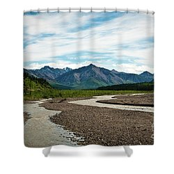 Rustic Water Shower Curtain