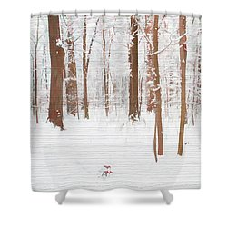 Rustic Winter Forest Shower Curtain by Dan Sproul