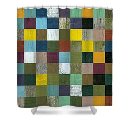 Rustic Wooden Abstract Shower Curtain