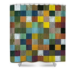 Rustic Wooden Abstract Tower Shower Curtain by Michelle Calkins
