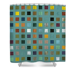 Rustic Wooden Abstract Vl Shower Curtain