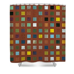 Rustic Wooden Abstract Vll Shower Curtain by Michelle Calkins