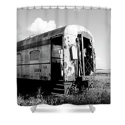 Rusting On The Rails Shower Curtain