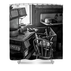 Rusting Pots And Pans, Bodie Ghost Town Shower Curtain