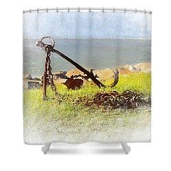Rusty Anchor Shower Curtain