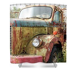 Rusty And Crusty Reo Truck Shower Curtain