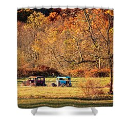 Shower Curtain featuring the photograph Rusty And Oldie by Eduard Moldoveanu