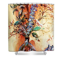 Rusty Arrangement Shower Curtain