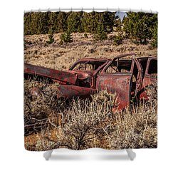 Rusty Automobile Shower Curtain by Sue Smith