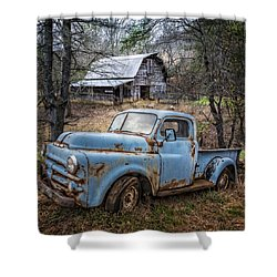 Rusty Blue Dodge Shower Curtain