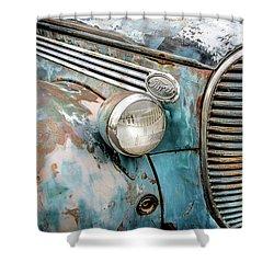 Rusty Blues Shower Curtain