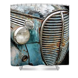 Rusty Blues Shower Curtain