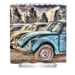 Shower Curtain featuring the photograph Rusty Bugs by Jean OKeeffe Macro Abundance Art