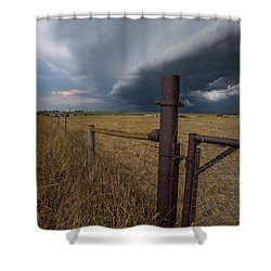 Shower Curtain featuring the photograph Rusty Cage  by Aaron J Groen