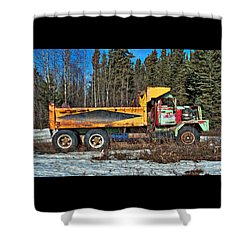 Rusty Dump Truck Shower Curtain