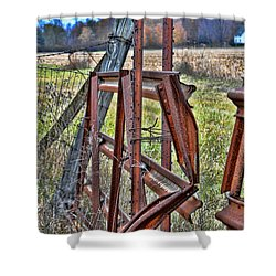 Rusty Gate Shower Curtain by Pat Cook